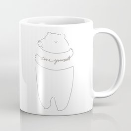 Love Yourself Bear Coffee Mug