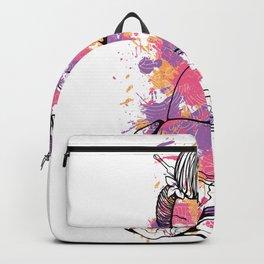 Watercolor Geisha Backpack