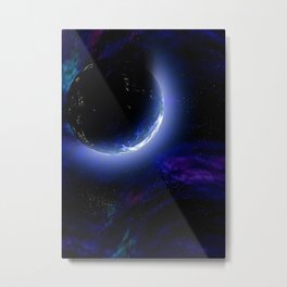 Exploring Luminant Planet Metal Print