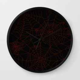 Red cobweb Wall Clock