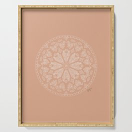 Pink Rose Window Serving Tray