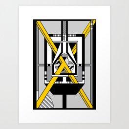 Yellow X - Geometric Abstract Design Art Print