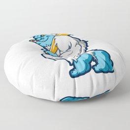 Baseball sasquatch Floor Pillow