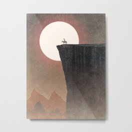 Strange Frontier: World's Edge (Sunset) Metal Print