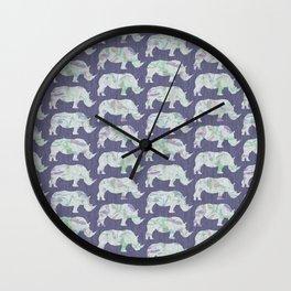 speckled rhinos Wall Clock