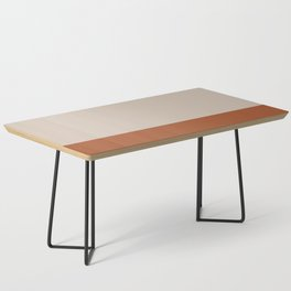 Minimalist Solid Color Block 1 in Putty and Clay Coffee Table