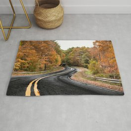 autumn road Rug