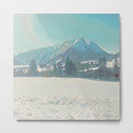Winterly Landscape IV Metal Print