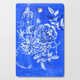 blue and white: floral composition Cutting Board