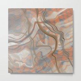 Earth Marble Cloud Flow Print Metal Print
