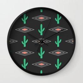 Navajo Saguaro Wall Clock