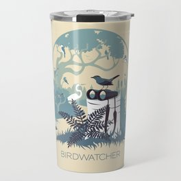 Birdwatcher (blues) Travel Mug