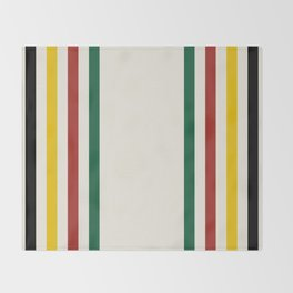 Rustic Lodge Stripes Black Yellow Red Green Decke