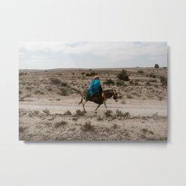 Mule ride Metal Print