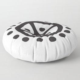 Sun Wheel | Prehistoric Norse Art  Floor Pillow