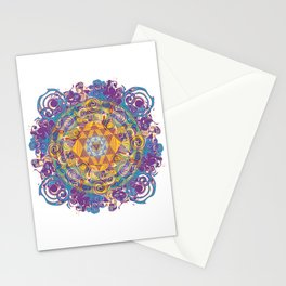 Actualize Sri yantra Stationery Cards