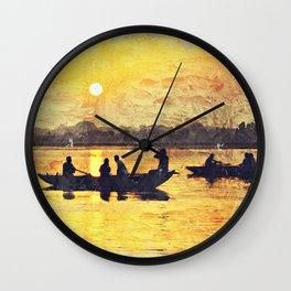 India Varinasi Ganges Wall Clock