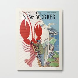 "Cover of "" The new Yorker"" magazine. Mar. 22 1958. Metal Print"
