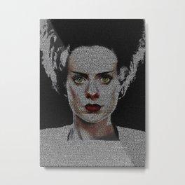 The Bride of Frankenstein Screenplay Print Metal Print