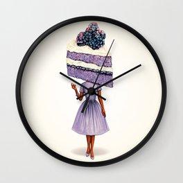 Cake Head Pin-Up: Blackberry Cake Wall Clock