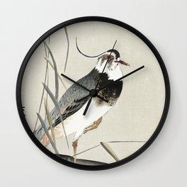 Cuckoo at crescent moon (1900 - 1930) by Ohara Koson (1877-1945) Wall Clock