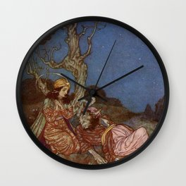 Yes I will Marry You Beauty and the Beast By Edmund Dulac Wall Clock