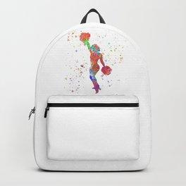 Cheerleader girl in watercolor Backpack
