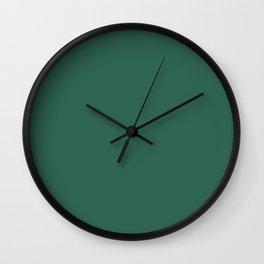 Simply Solid - Medium Sea Green Wall Clock