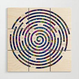 Umphrey's McGee Red Rocks 2012 Spiral Art Wood Wall Art