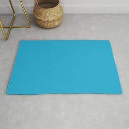 From The Crayon Box – Cerulean - Bright Blue Solid Color Rug