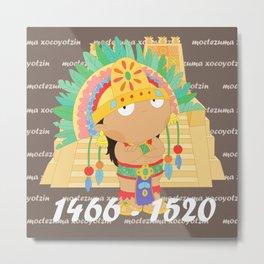 Moctezuma Xocoyotzin Metal Print