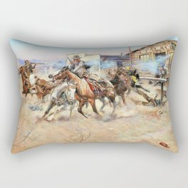 Smoke of a .45 - Charles Marion Russell Rectangular Pillow