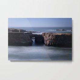 Keyhole Rock Arches Point Arena California Metal Print
