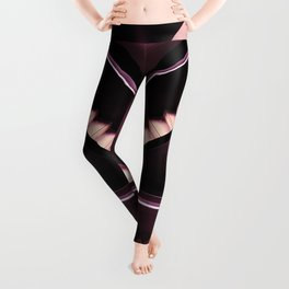 rose pink endless stairs aesthetic abstract art print Leggings