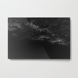 Abstract Coastal Water in Black and White Oregon Photography Metal Print