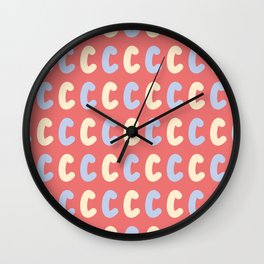 Lowercase Letter C Pattern Wall Clock