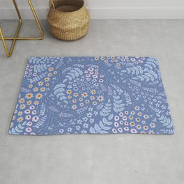 Dank Blue Variation Rug