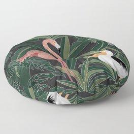 Flamingo and Pelican Floor Pillow