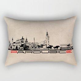 Pardubice skyline city Rectangular Pillow