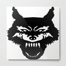 wolf head animal Metal Print