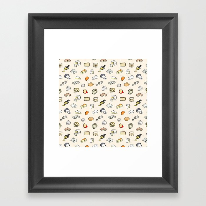Cheese pattern Gerahmter Kunstdruck