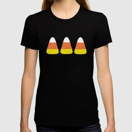 Candy Corn Jumble (black background) T-shirt