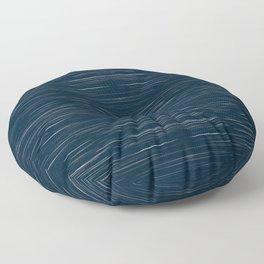 Meteor Stripes - Dark Denim Floor Pillow