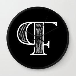 PF monogram #2 Wall Clock