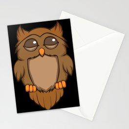 Cute sleeping owl Stationery Cards
