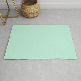 Mint Green Pastel Solid Color Block Spring Summer Rug