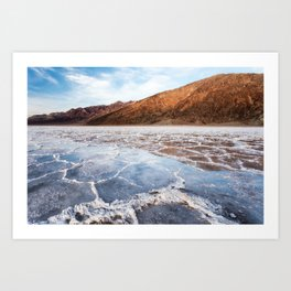 Badwater Reflections Art Print