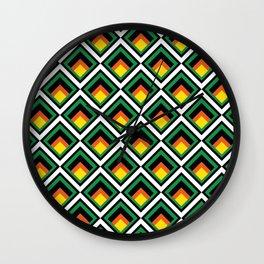 Colorful geometric Kwanzaa Wall Clock