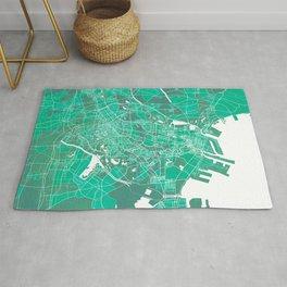 Tianjin City Map of China - Watercolor Rug