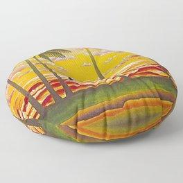 Surf Hawaii, Outrigger, Hawaiian Sunset Portrait Floor Pillow
